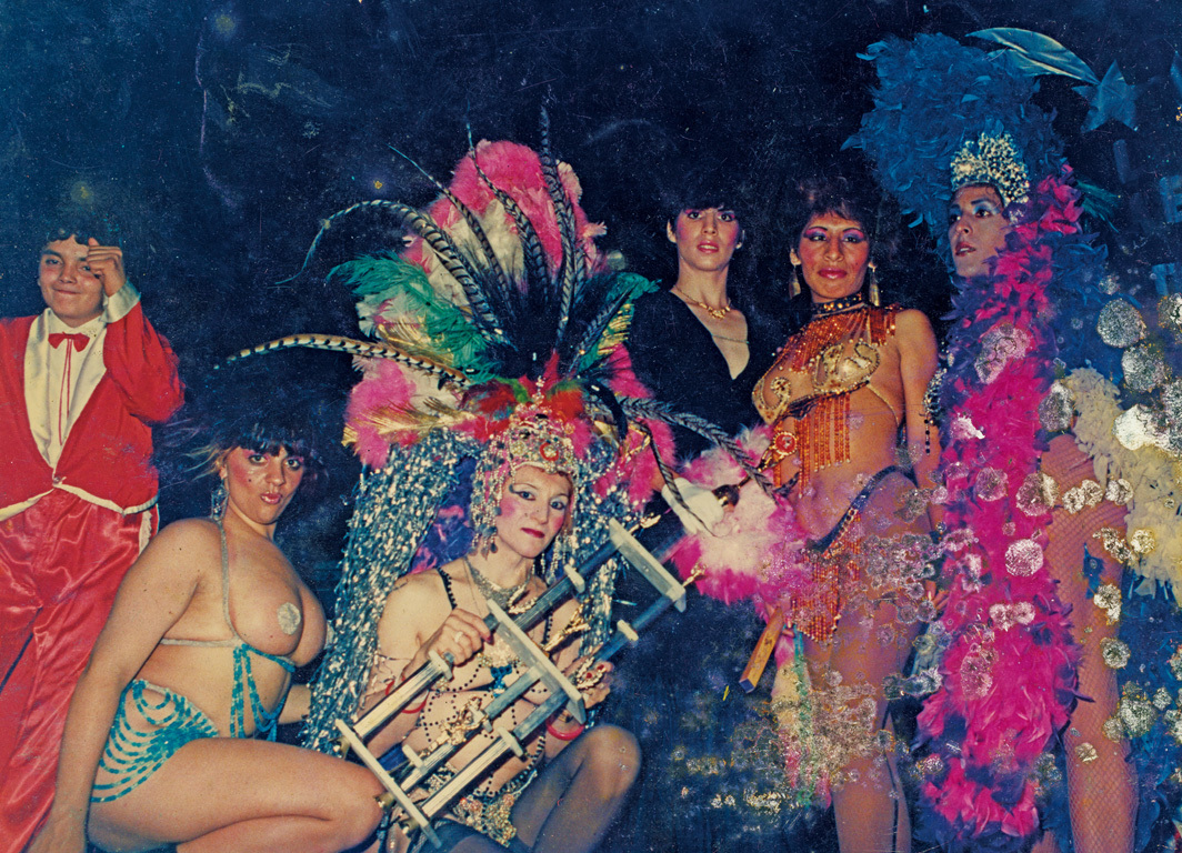 Claudia Pía Baudracco at Carnival, Buenos Aires, 1986.