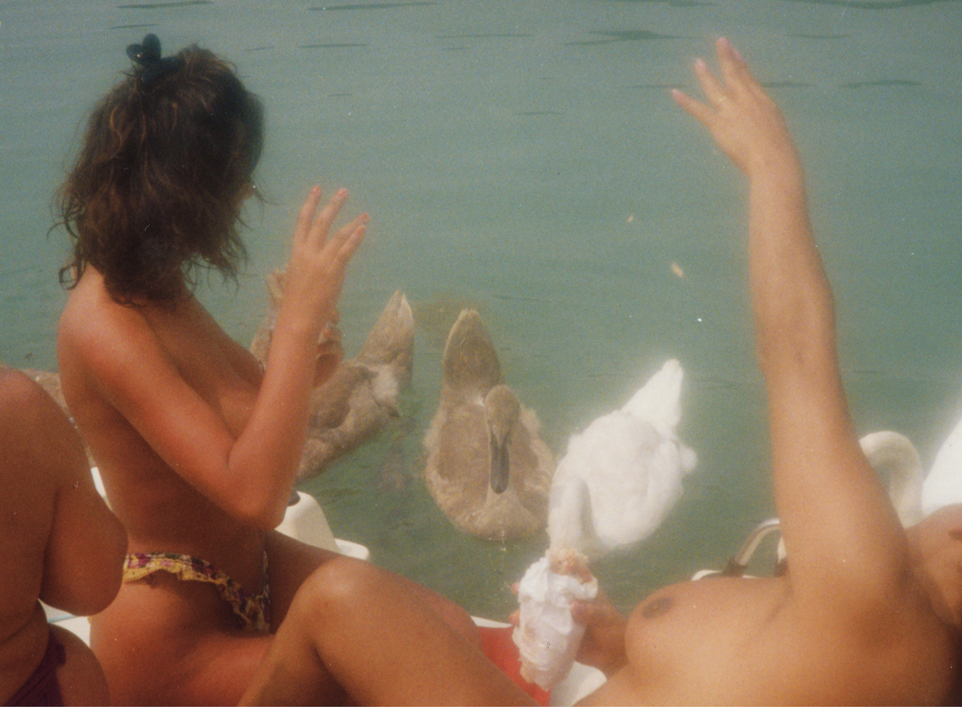 Claudia Pía Baudracco and her friends in exile, Italy, 1991.
