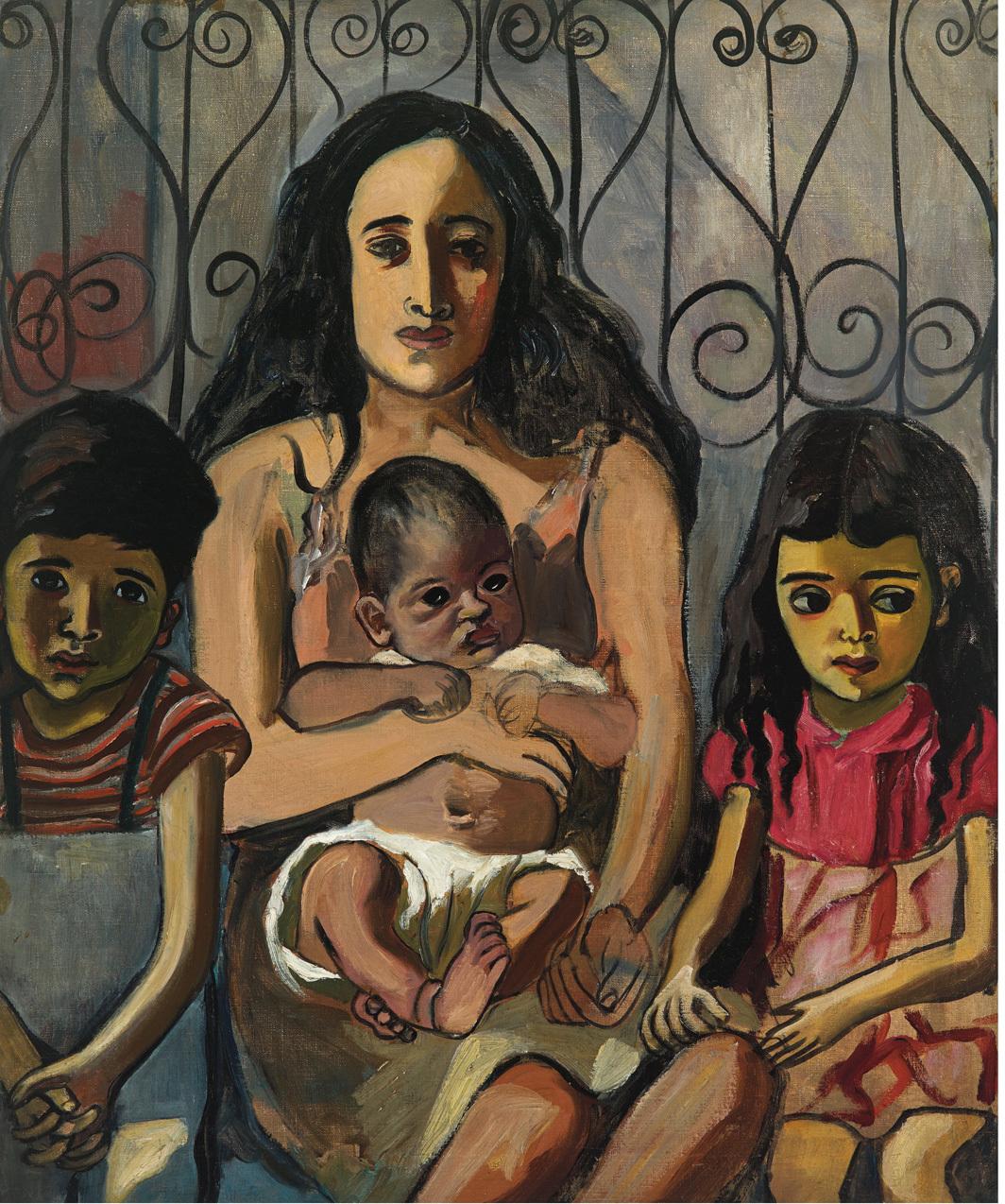 Alice Neel, The Spanish Family, 1943, oil on canvas, 34 × 28