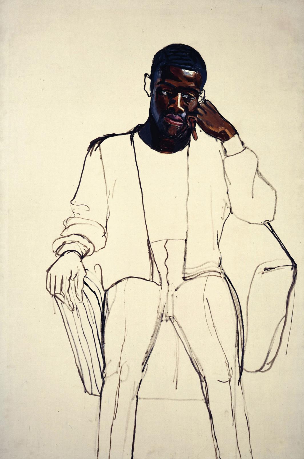 Alice Neel, Black Draftee (James Hunter), 1965, oil on canvas, 60 × 40