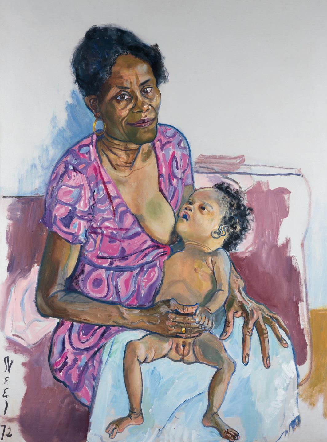 Alice Neel, Carmen and Judy, 1972, oil on canvas, 40 × 29 7⁄8