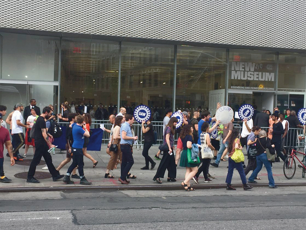 New Museum Union action, New Museum, New York, June 25, 2019. Photo: Alex Greenberger.