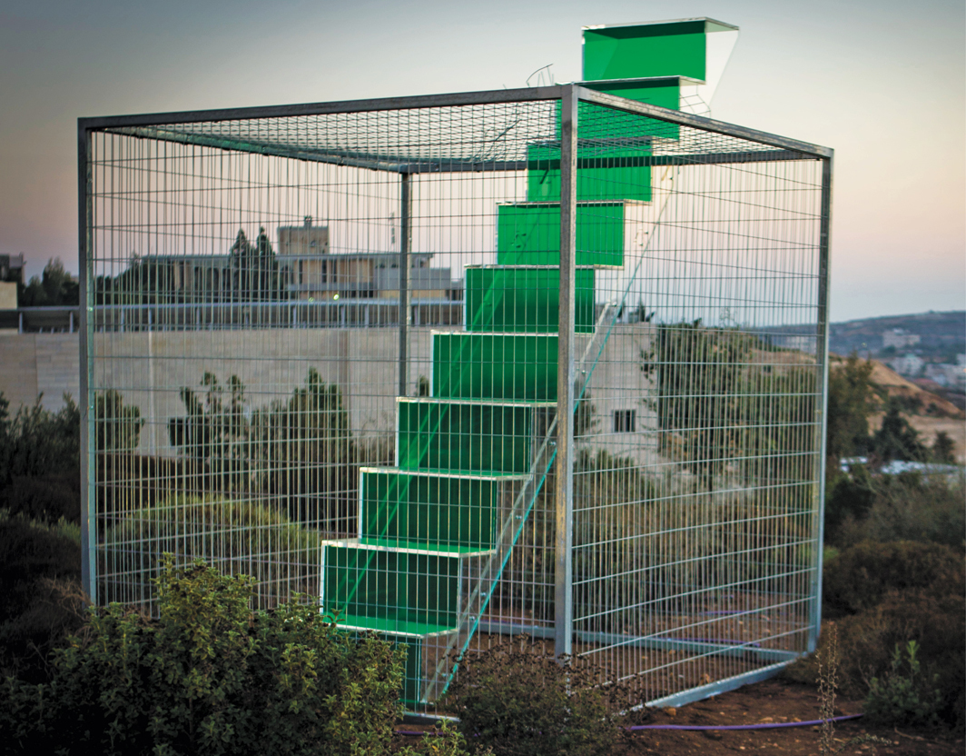 "Vera Tamari, Home, 2017, Plexiglas, wire mesh. Installation view, Palestinian Museum, Birzeit. From ""Jerusalem Lives,"" 2017–18. Photo: Ziad Trad."