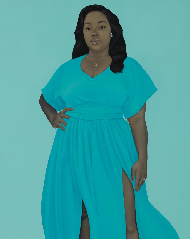 Amy Sherald, Breonna Taylor, 2020, oil on linen, 54 × 43