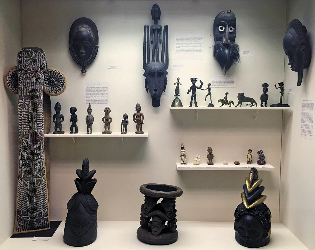 Works from the Alain LeRoy Locke African art collection, Howard University Gallery of Art, Washington, DC, 2017. Photo: Faye Yan Zhang.