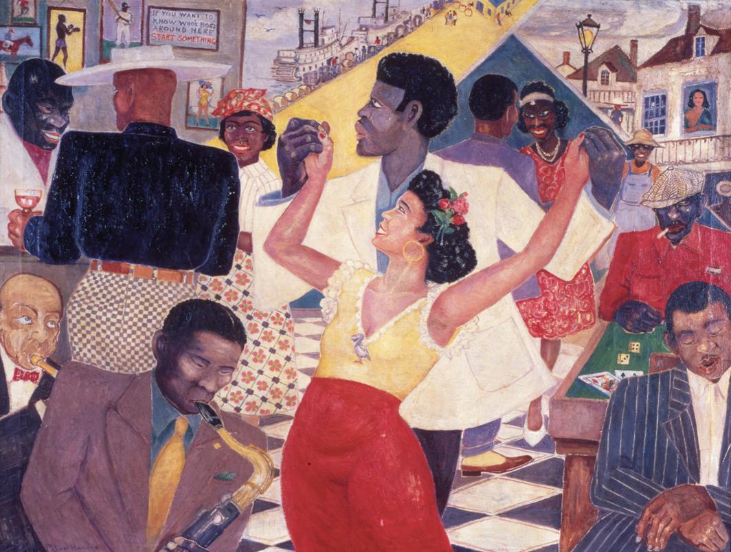 Palmer C. Hayden, Beale Street Blues, 1943, oil on canvas, 30 × 40