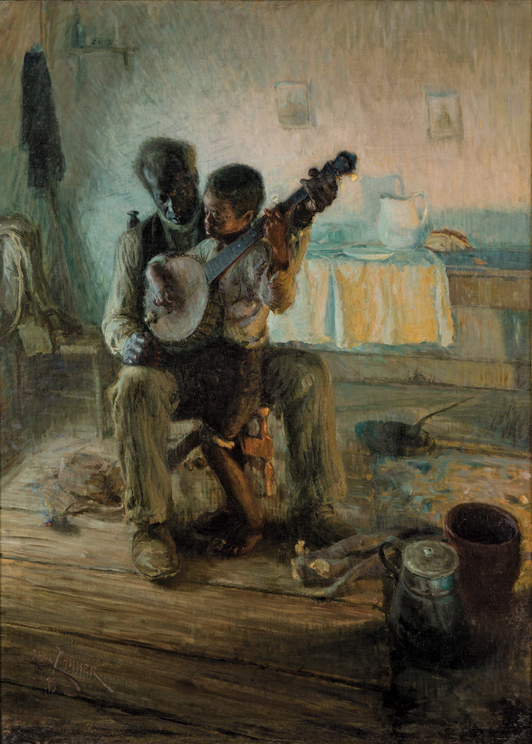 Henry Ossawa Tanner, The Banjo Lesson, 1893, oil on canvas, 49 × 35 1⁄2