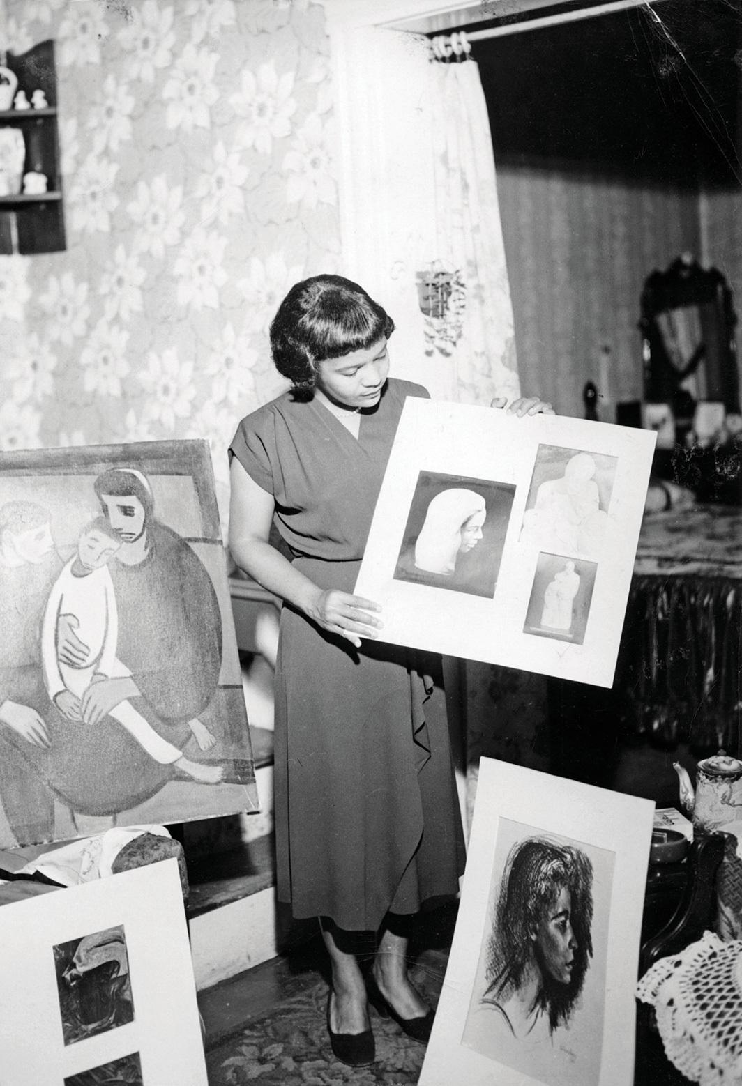 Samella S. Lewis, 1947.