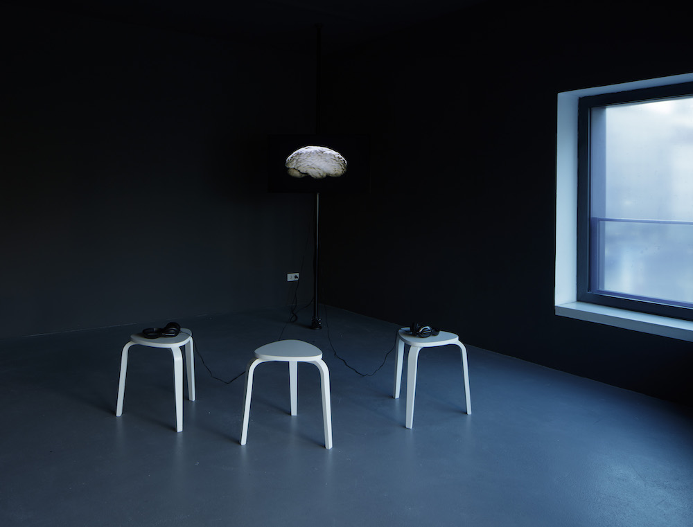 Dafna Maimon, The She The Same, 2014, looped 20-minute video. Installation view, Kunstverein am Rosa–Luxemburg–Platz, Berlin. Photo: Ludger Paffrath.