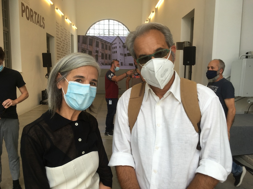 Artists Maria Loizidou and Panos Kokkinias.