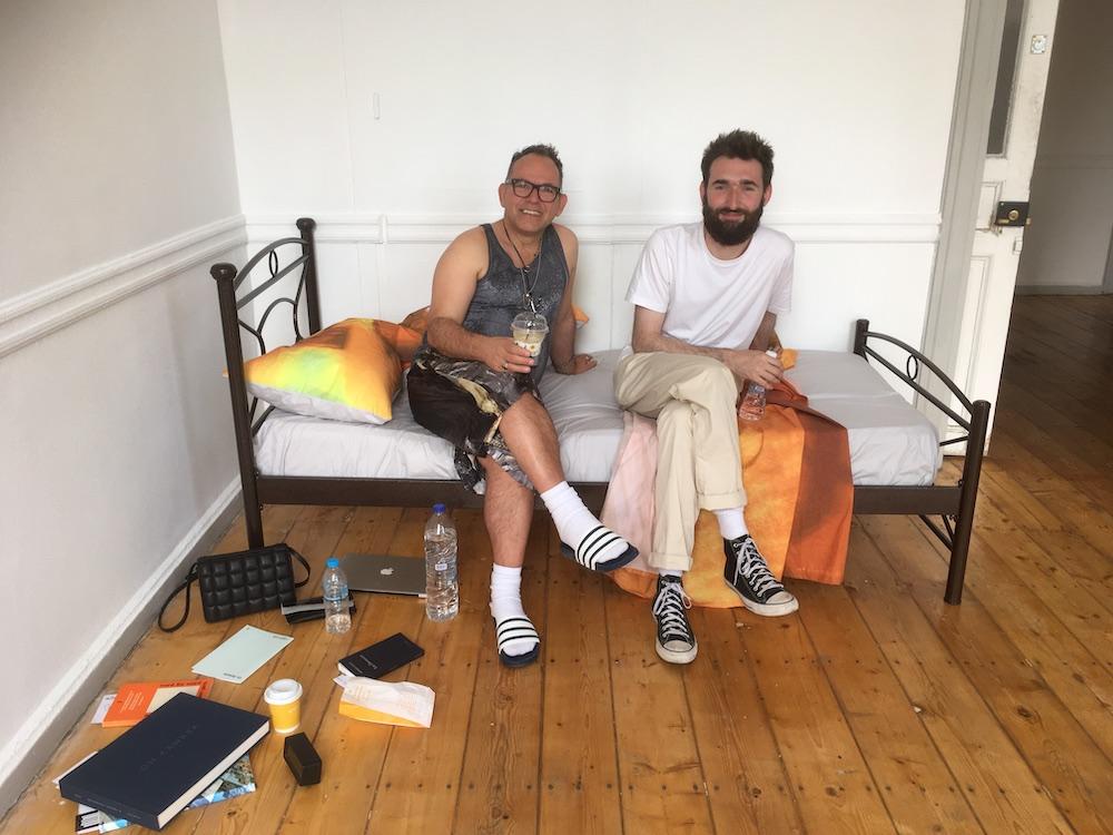Curator Pierre Bal-Blanc and dealer Hugo Wheeler.