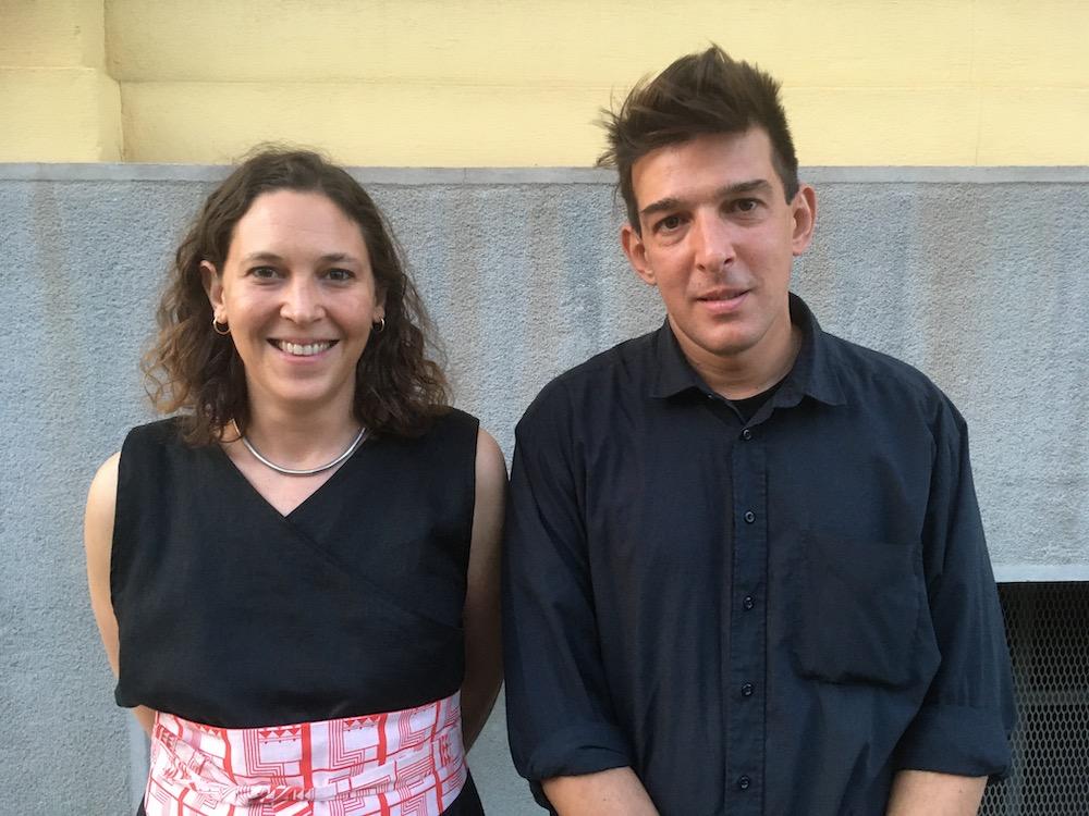 Artists Eirene Efstathiou and Alexandros Tzannis.