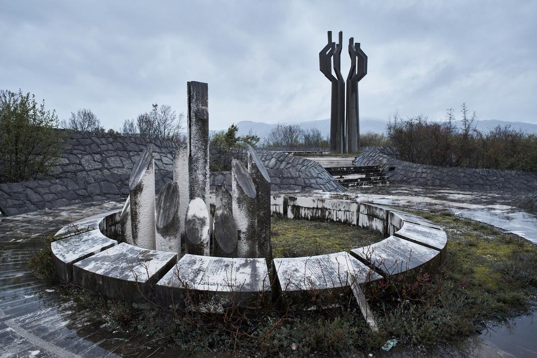 Svetlana Kana Radevic, Monument to Fallen Fighters of Ljesanska Nahija, 1980, Barutana Podgorica. Photo: Luka Boskovic.