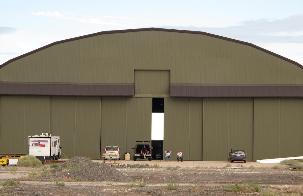 Wendover Airfield's Enola Gay hangar, which housed the plane that dropped the first atomic bomb on Hiroshima. Photo: Kelly Michals.