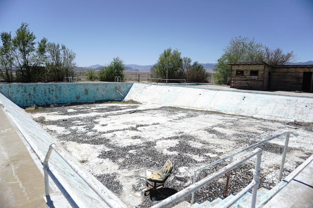 The former swimming pool at the Wendover Air Force Base in Utah. Photo: Sean J Patrick Carney.