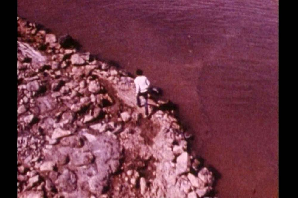 Robert Smithson, Spiral Jetty, 1970, 16-mm film on video, color, sound, 35 minutes. © Holt/Smithson Foundation.