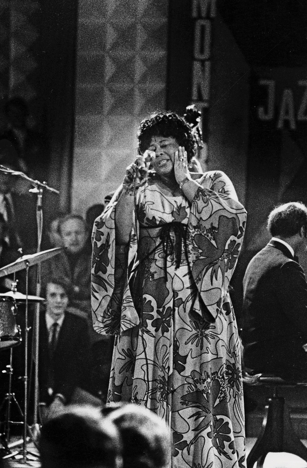 Ella Fitzgerald performing at the Montreux Jazz Festival, Switzerland, June 22, 1969. Photo: Dany Gignoux.