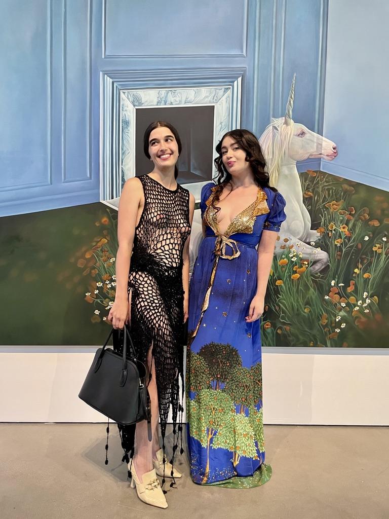 Artists Alix Vernet and Ariana Papademetropoulos. Photo: Grace Ahlbom.