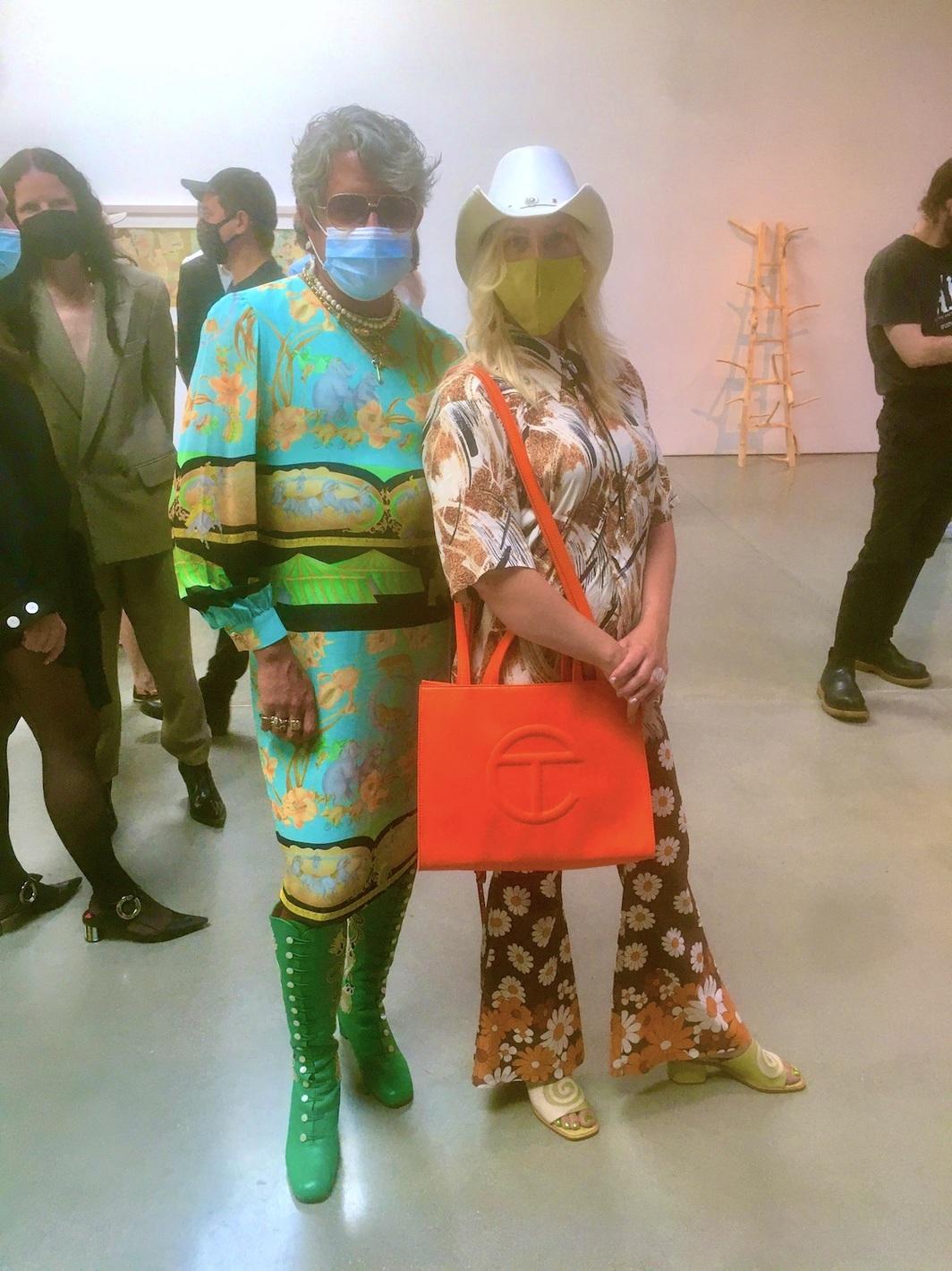 Artists Raul de Nieves and Whitney Vangren. Photo: Chloe Wyma.