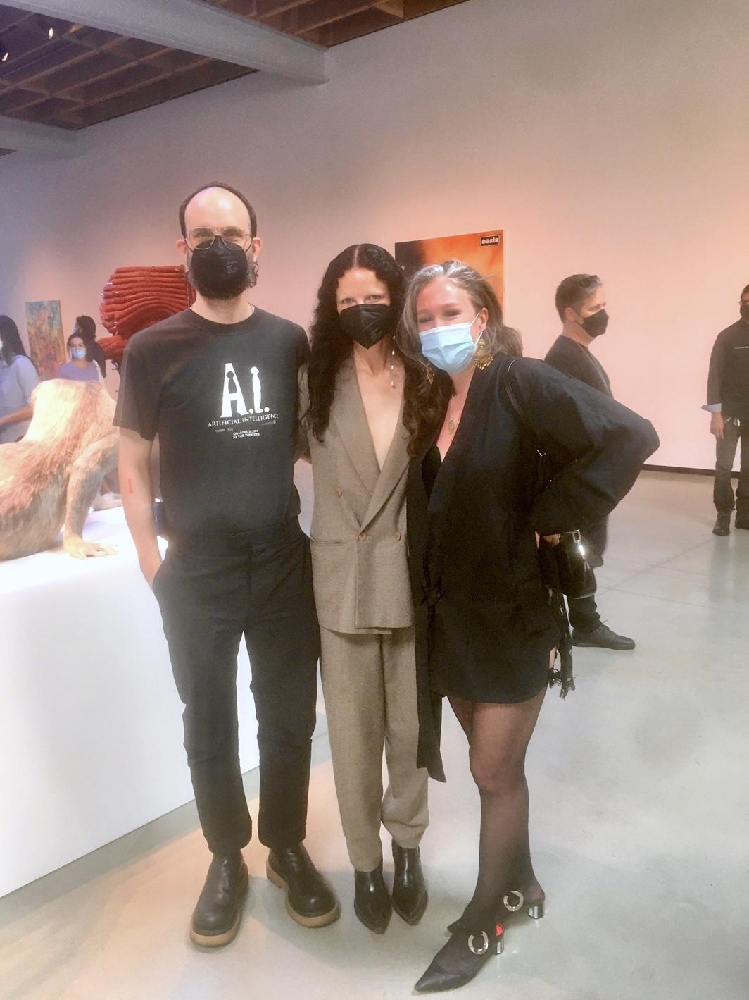 Artists Jon Ray, Isabelle Albuquerque, and Ambera Wellmann. Photo: Chloe Wyma.