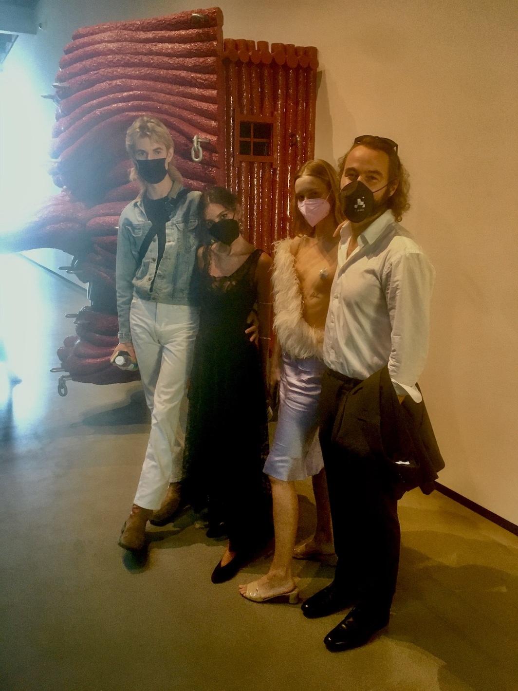 Photographer Walker Bunting, model and painter Leila Rahimi, Erika B, and Kevin H.  Photo: Chloe Wyma.