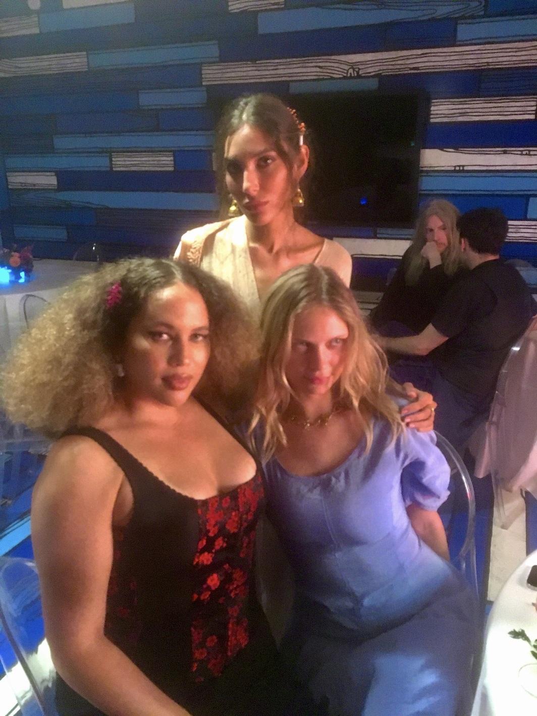 Models Matisse Andrews, Delilah Summer, and Leila Rahimi. Photo: Chloe Wyma.