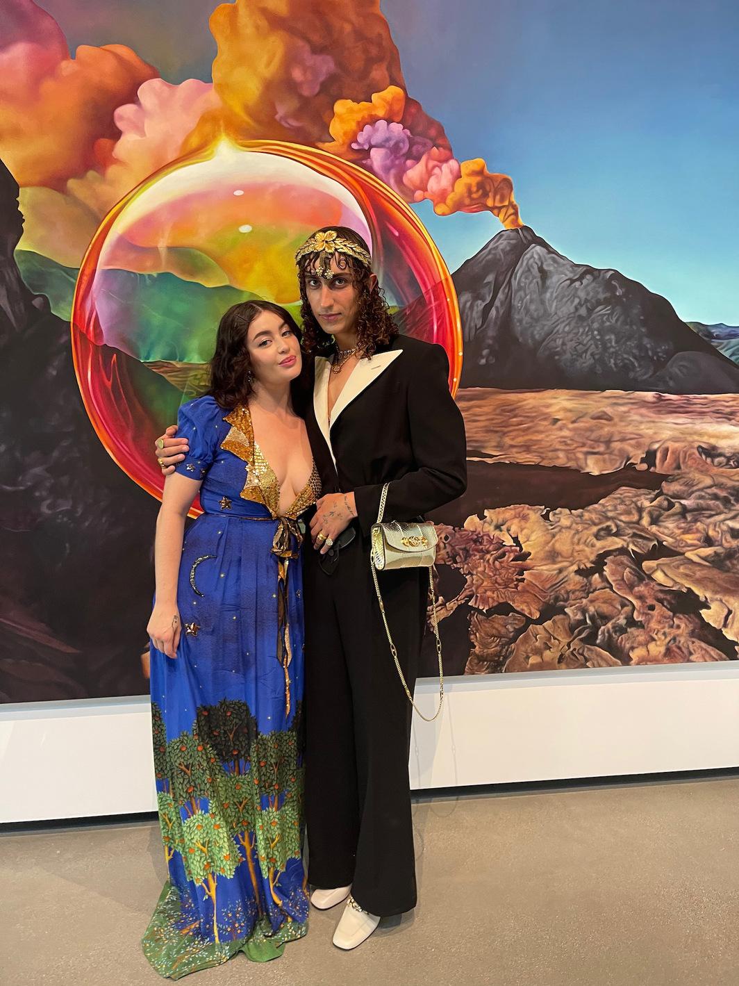 Artist Ariana Papademetropoulos and jewelry designer Darius Khonsary.